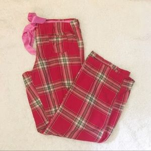 PINK Sleep Pants Red Plaid L Sweatpants Pajama